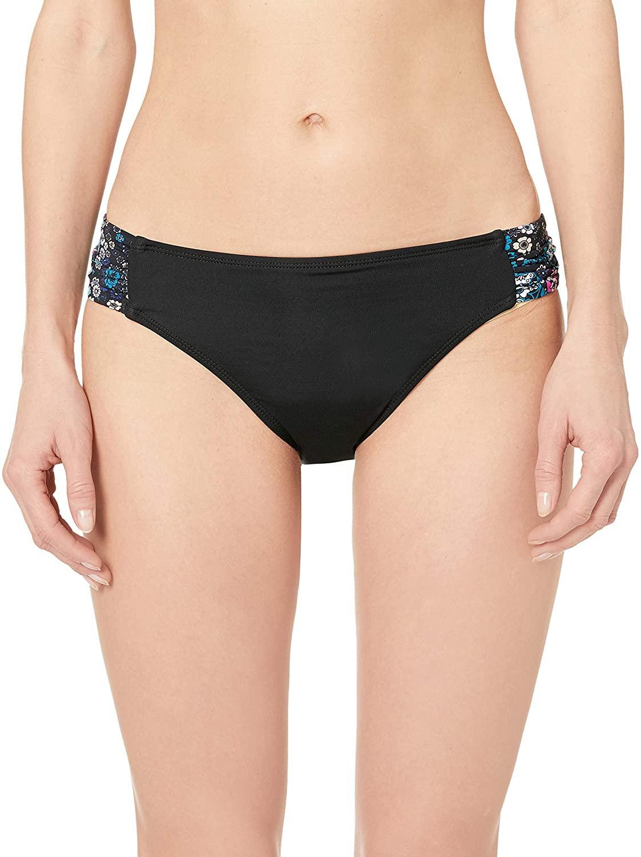 Captiva Women's Aqualina Shirred Side Hipster Bikini Bottom Swimsuit