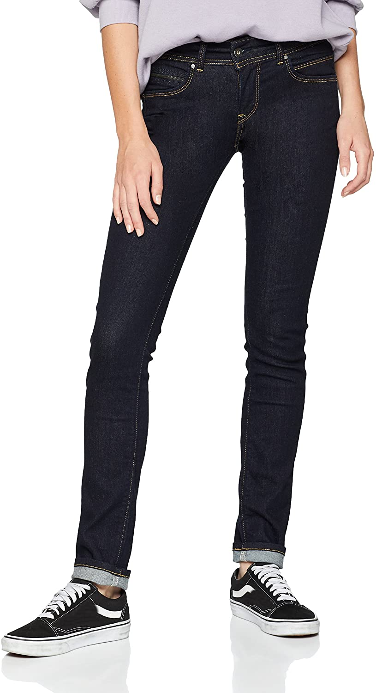 Pepe Jeans New Brooke Jeans Women M15 / Blue/Raw - EU 38 (US 28/32) - Slim Jeans Pants