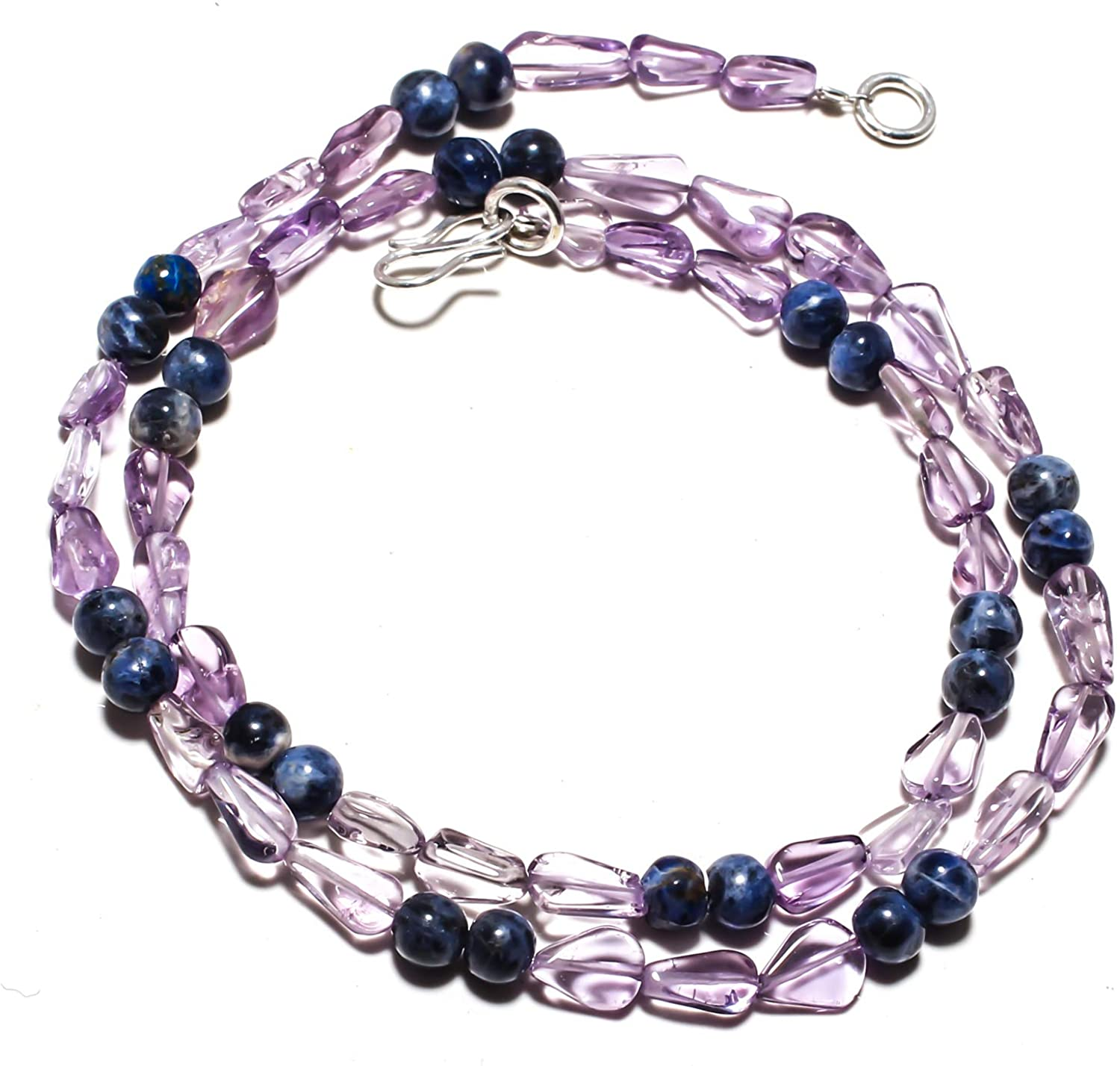 kanta incorporation Amethyst Natural Gemstone Beads Jewelry Necklace 17