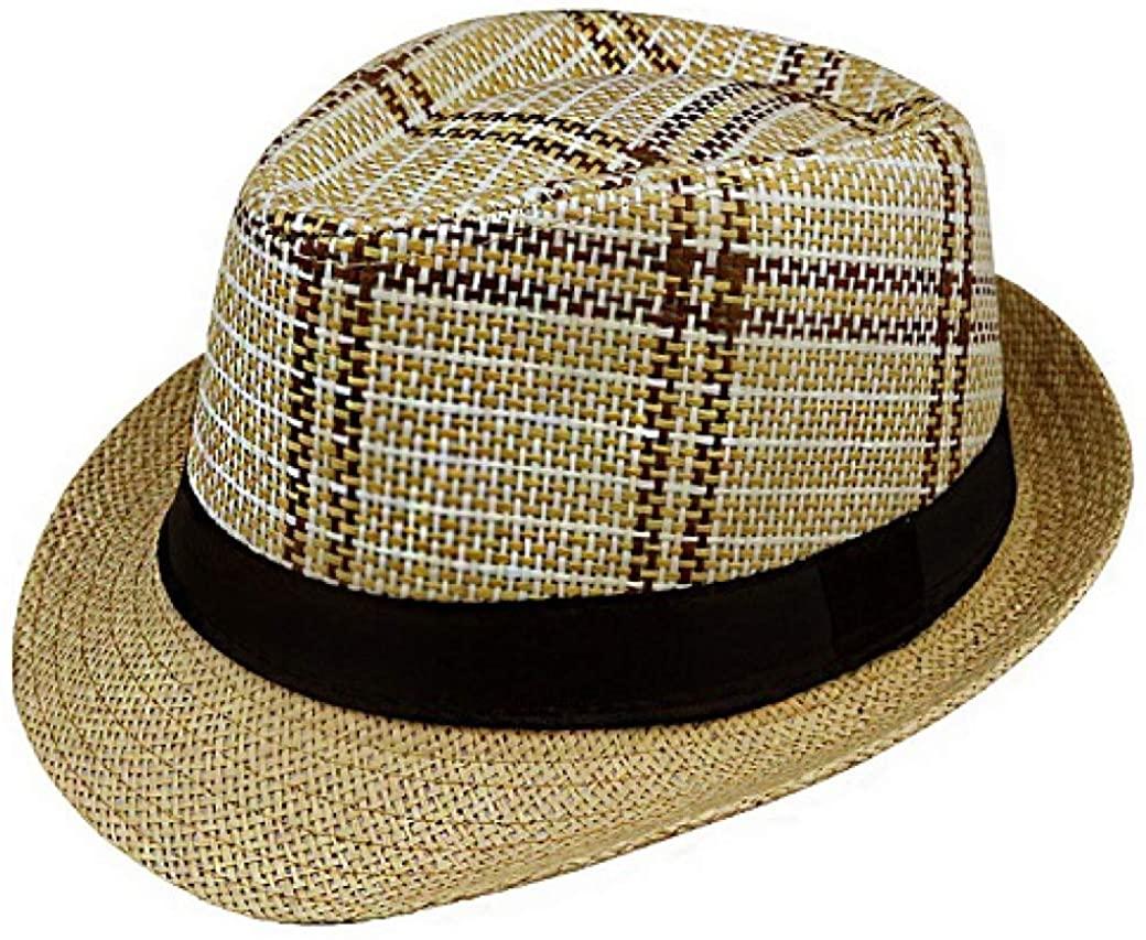 Sun Hat Straw Men Beach Summer Fashion Hats for Women Gangster Cap Jazz Hats Girl Visor Cap Casual Panama hat