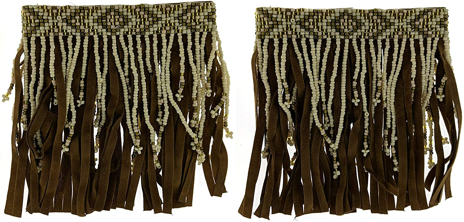 Bohemian Style Seed Bead Fringe Ankle Accessory (Sold As Pair)