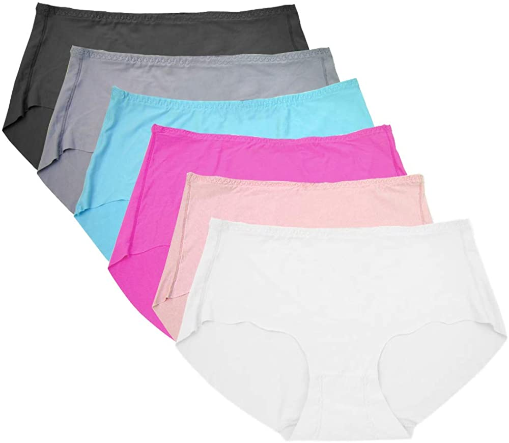 Cocobla Women Stretch Seamless Panties No Show Mid Rise Hipster Smooth Underwear