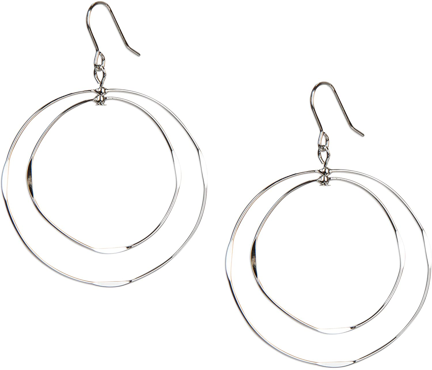 SPUNKYsoul Thin Double Hoop Light Weight Loop Earrings in Gold and Silver for Women