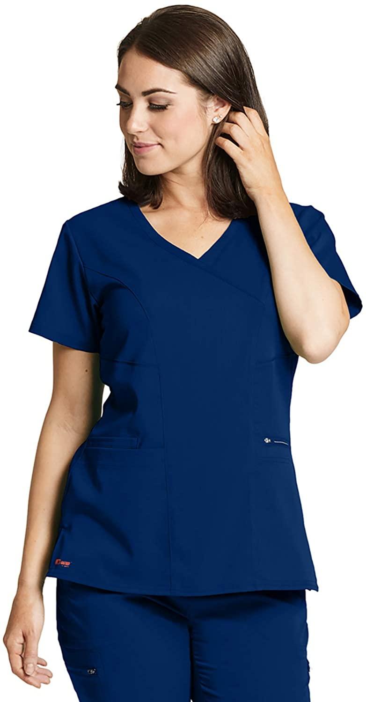 Grey's Anatomy GRST001 Women's Kim Princess Scrub Top Indigo M