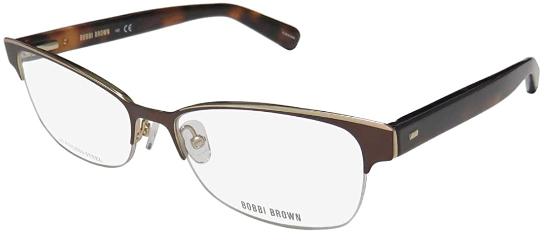 Bobbi Brown The Baxter Womens/Ladies Designer Half-rim Spring Hinges Popular Style Flexible Temples Eyeglasses/Spectacles