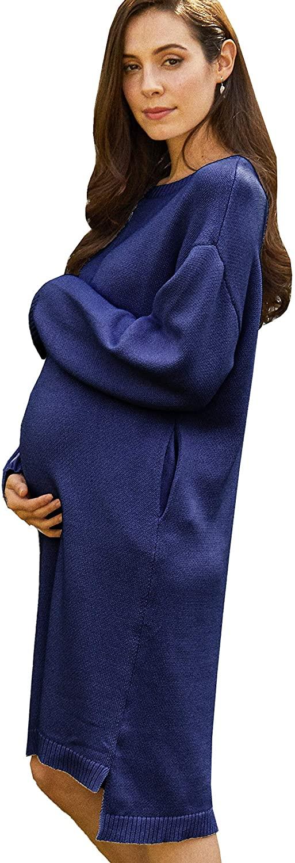 Maternity and Nursing Skin-Friendly 100% Organic Cotton Knit Dress