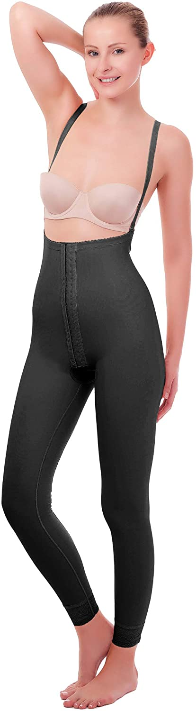 Post Surgical Postpartum High Waist Open Bust Full Length Body Shaper Compression Garments Leggings