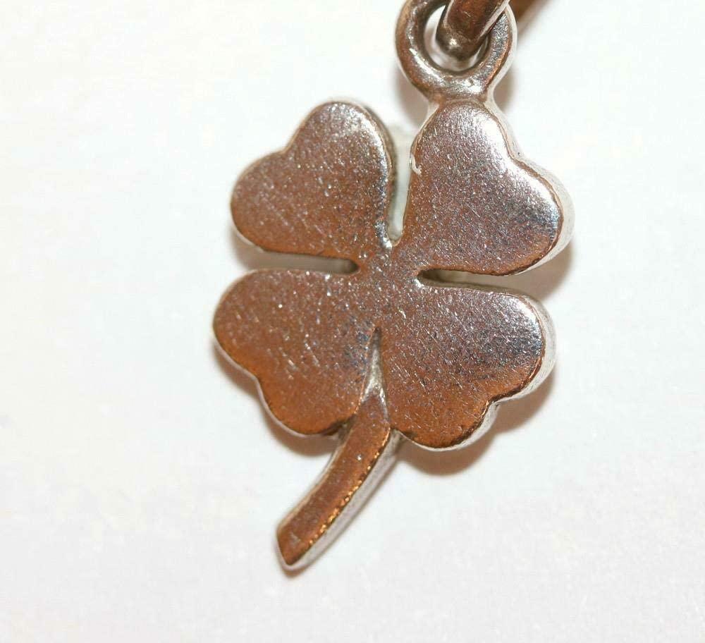 Four Leaf Clover Sterling Silver 925 Bracelet Charm Signed LL London CS-1044