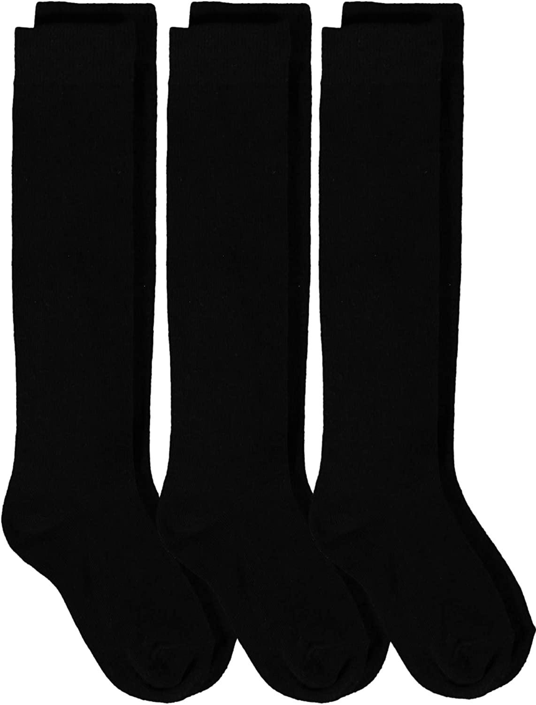 Piccolo Girls' School Uniform Knee-High Sock Three-Pack
