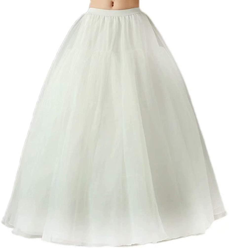 Orcle Women's A-line Petticoat Underskirt Slips 3 Hoops for Wedding Dress