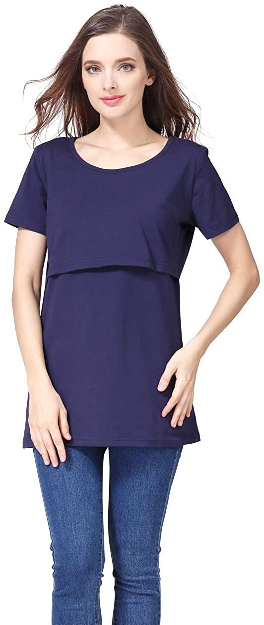 Emotion Moms Loose Maternity Clothes Nursing Top Breastfeeding T-Shirt