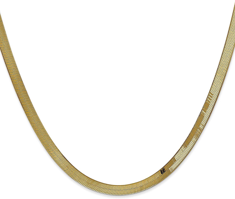 14K Gold 4mm Herringbone Chain 20