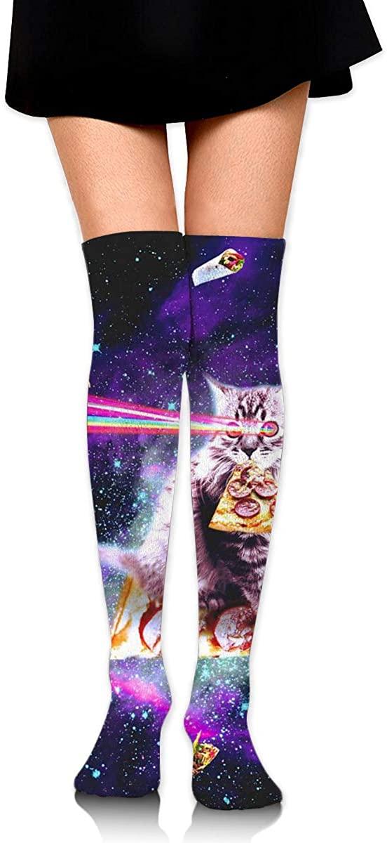 Game Life High Socks Outer Space Pizza Cat Sport Socks Crew Socks