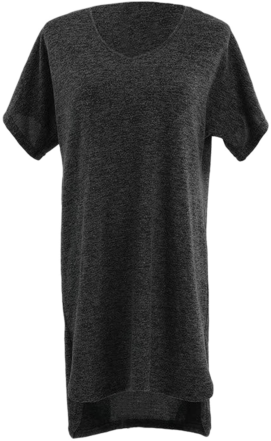 DEMDACO Long Lounge Charcoal Grey Women's Large/X-Large Polyester Fabric Fashion T-Shirt