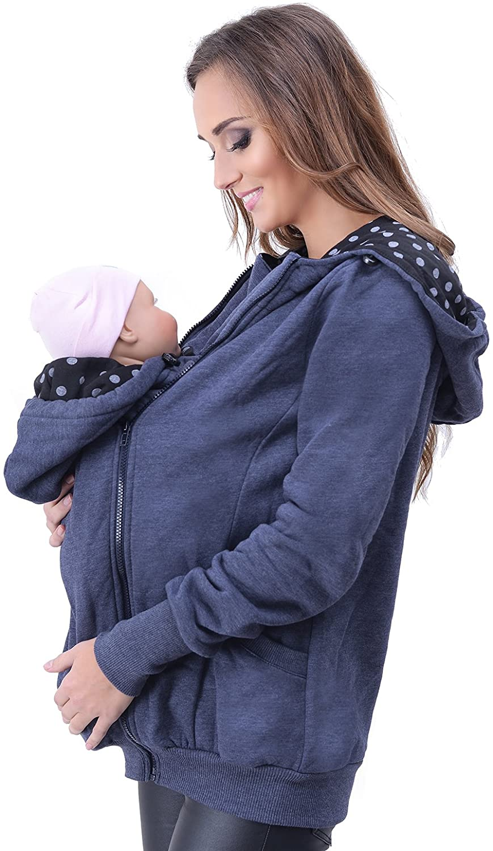 Mija - Maternity Warm Hoodie/Jacket/Sweatshirt/for Baby Carriers 4046