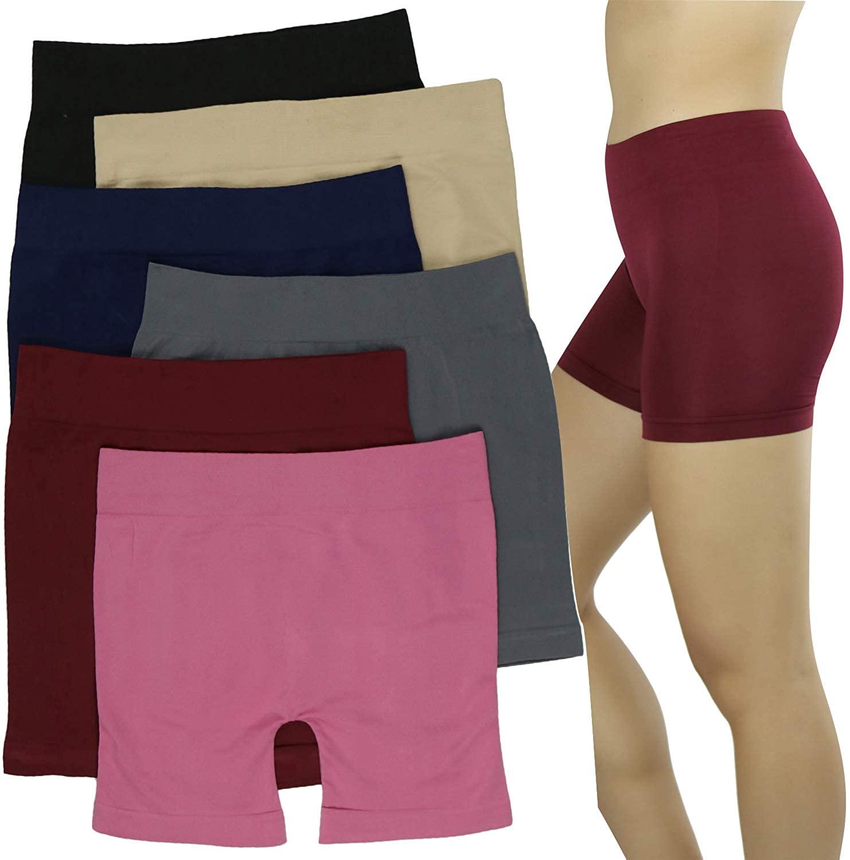 ToBeInStyle Women's Pack of 6 Seamless Layering Underwear Mini Boyshorts