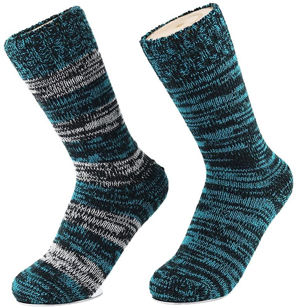 Women's Crew Merino Wool Winter Thick Warm Hiking Trekking Boot Socks
