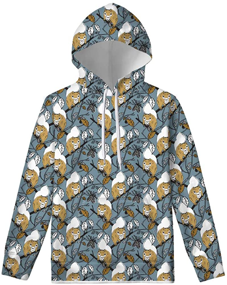 Upetstory 3D Print Sweatshirt with Pocket Athletic Drawstring Pullover Hoodies Casual for Girls XS-4XL
