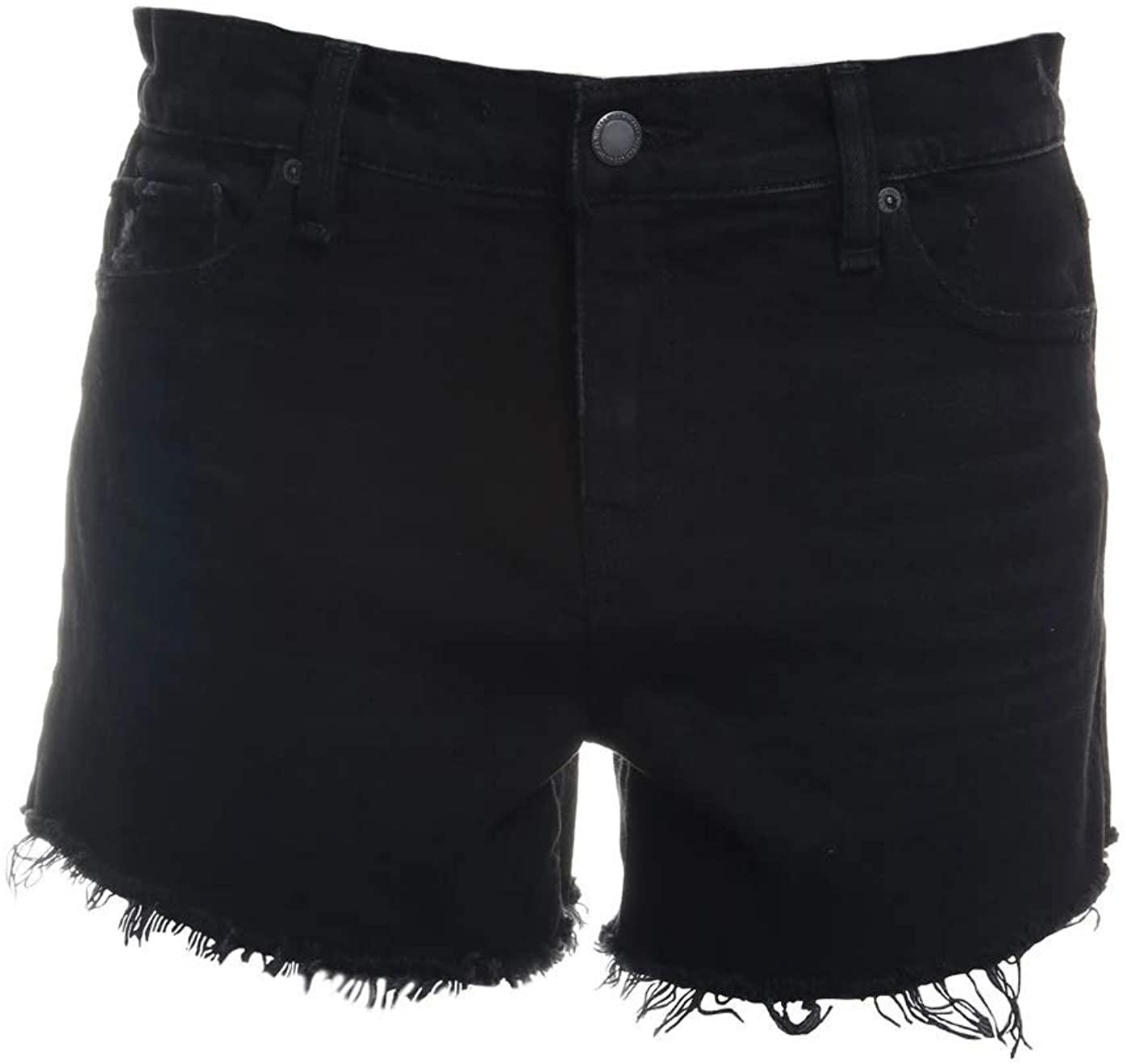 Hudson Jeans Gemma Mid-Rise Cut Off Shorts in Blitz Destructed