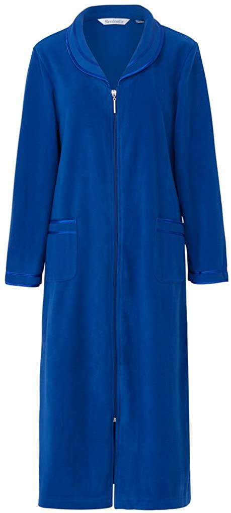 Slenderella HC6322 Womens Blue Zip Up Dressing Gown House Coat Robe HC6322