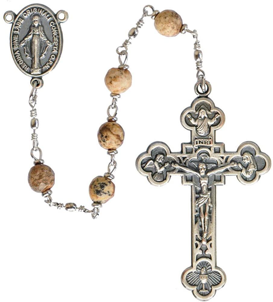 5 Decade Picture Jasper 6mm Rosary