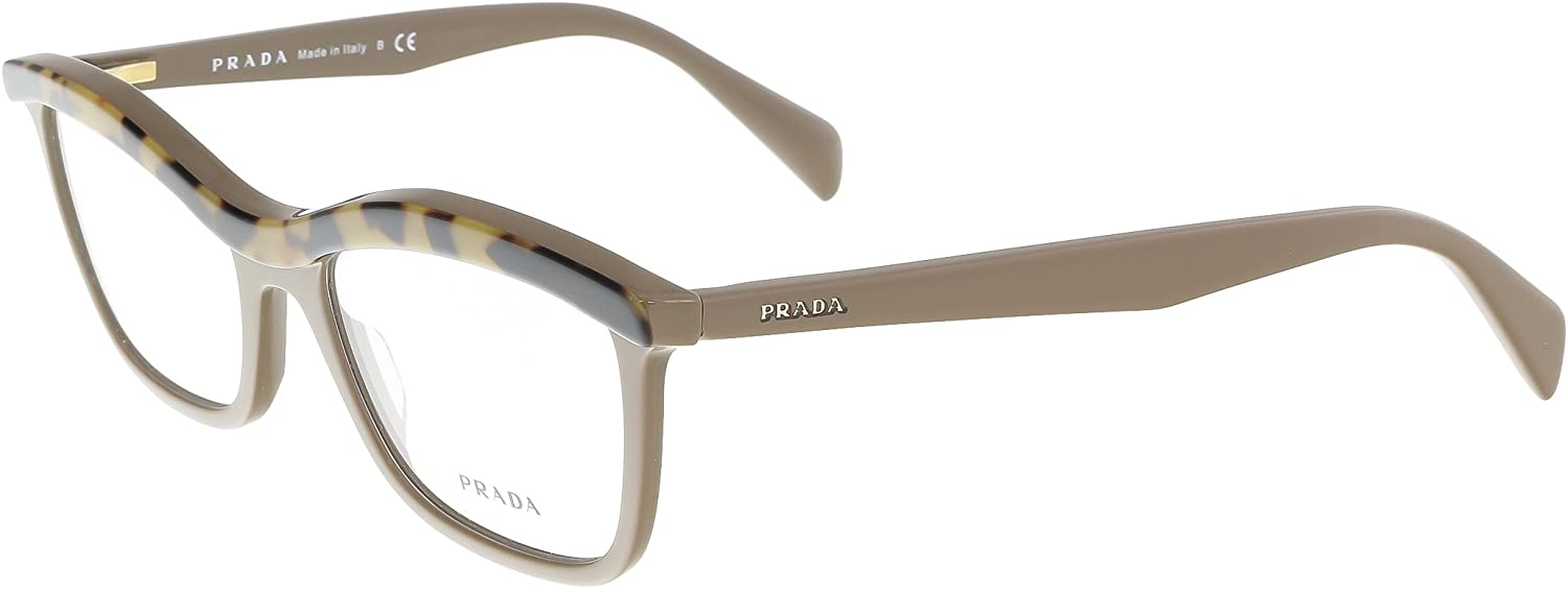 Prada Portrait Pr17pv Eyeglasses Ma61o1 Top Medium Havana/brown Demo Lens 54 18 140