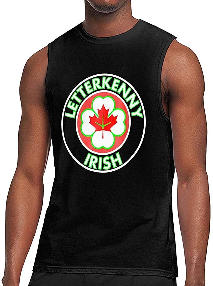 GUAHUAXIANG Letterkenny-Irish Sleeveless Sports Shirt Running Muscle Bodybuilding Tank Top