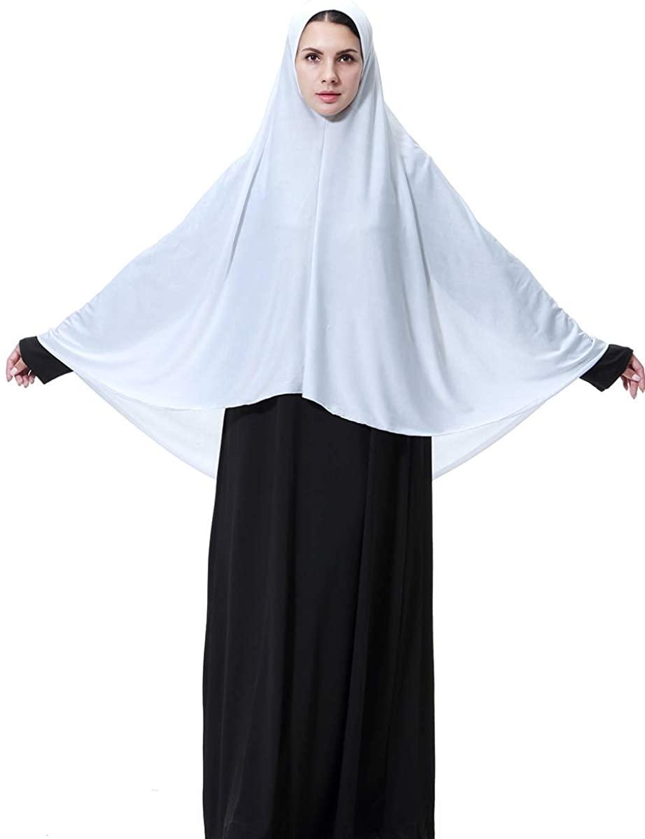 P.Healthy Women's Elegant Modest Muslim Islamic Ramadan Soft Light Weight Jersey Hijab Long Scarf Hijab