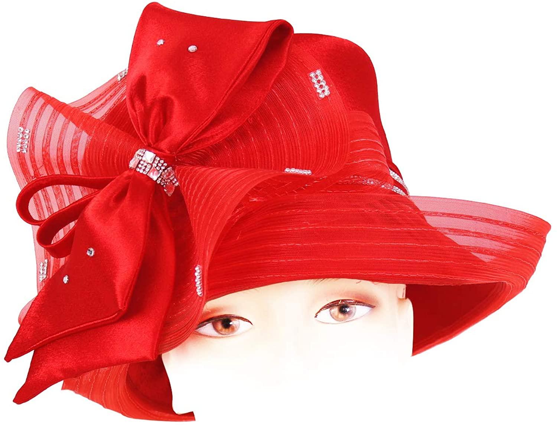 Ms. Divine Collection Women's Satin Church Derby Hats - H515