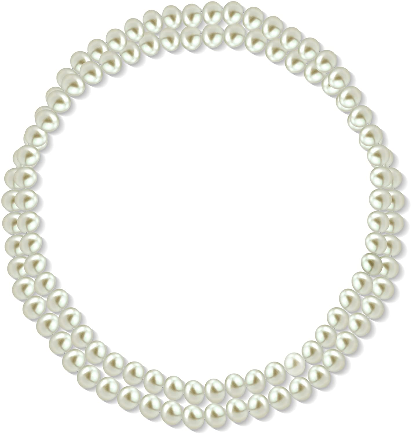 La Regis Jewelry 11-11.5mm White Freshwater Cultured High Luster Pearl Endless Necklace, 36