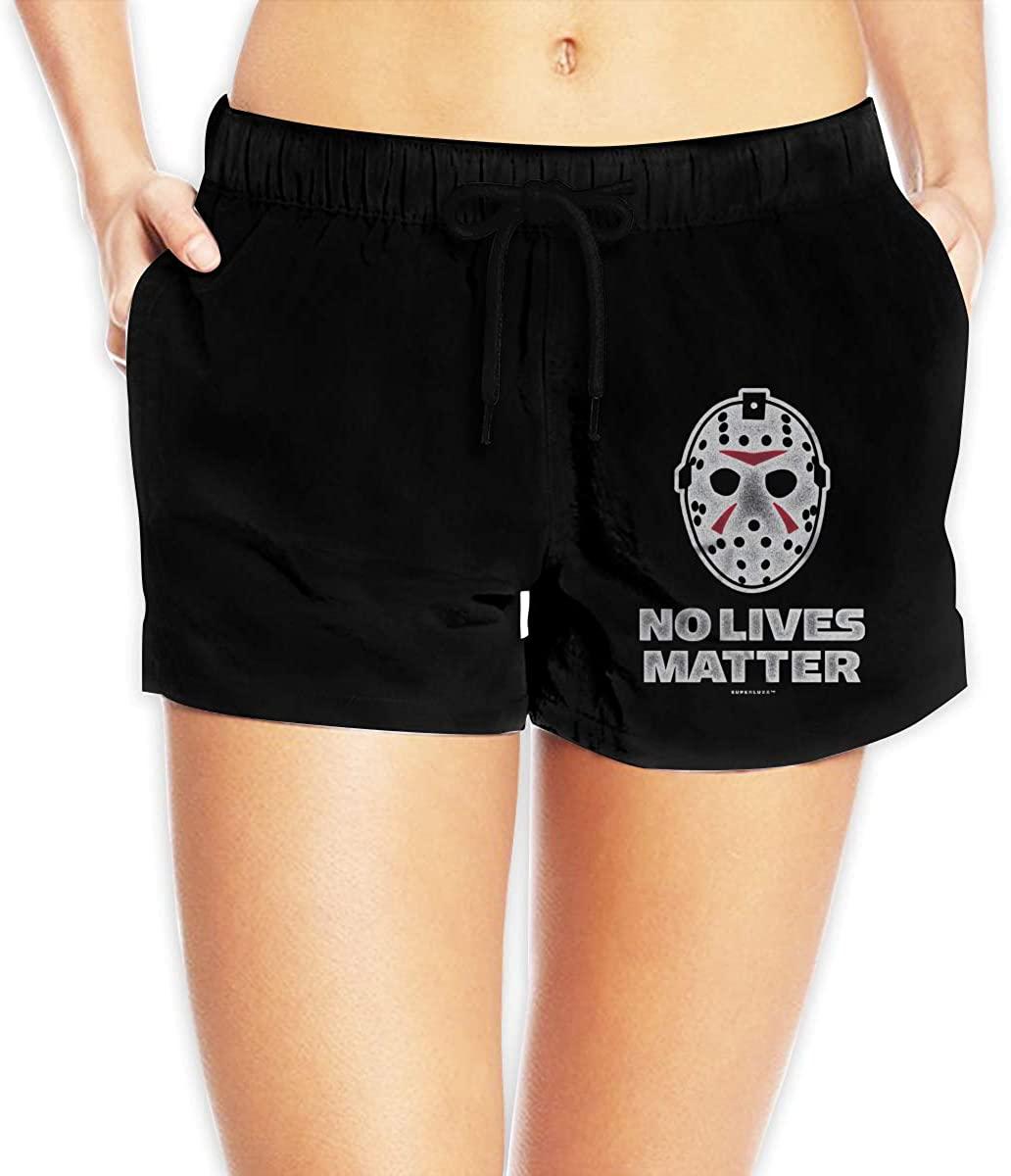 Women Sexy Hot Pants Summer Casual Shorts No Lives Matter Short Beach Trousers