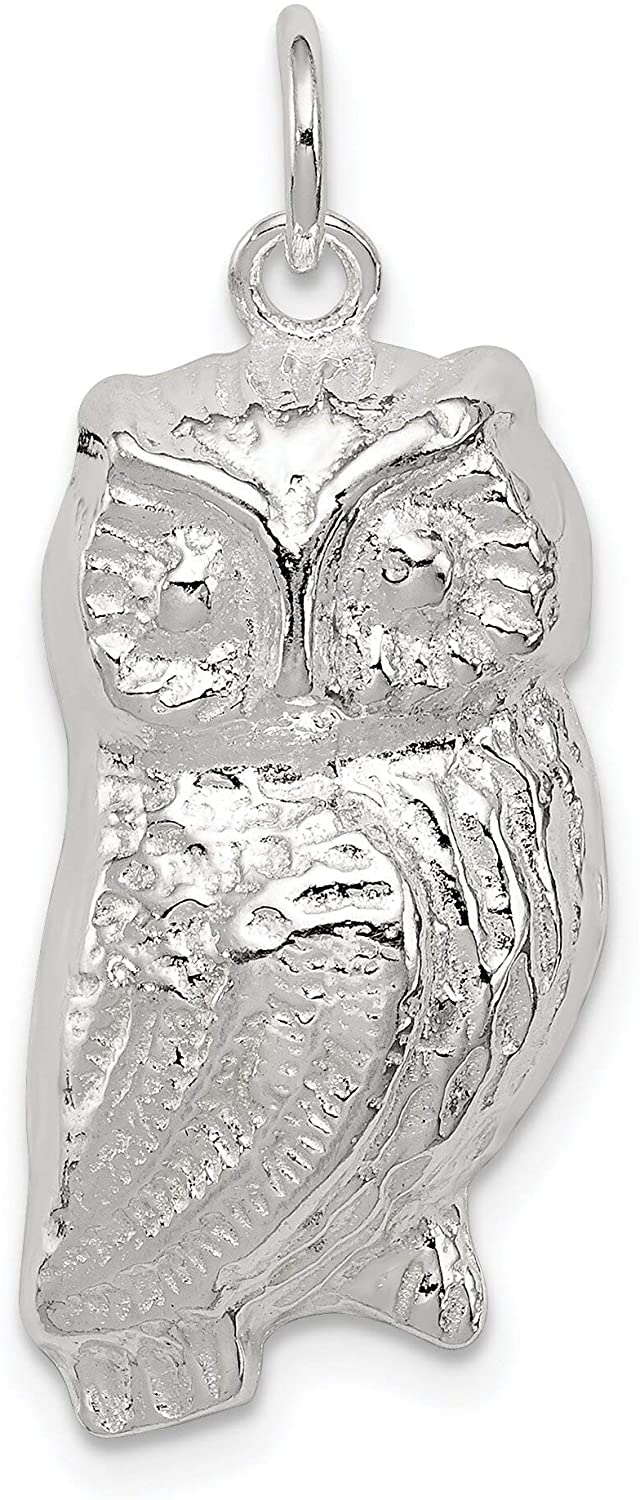 Sterling Silver Owl Charm & 18