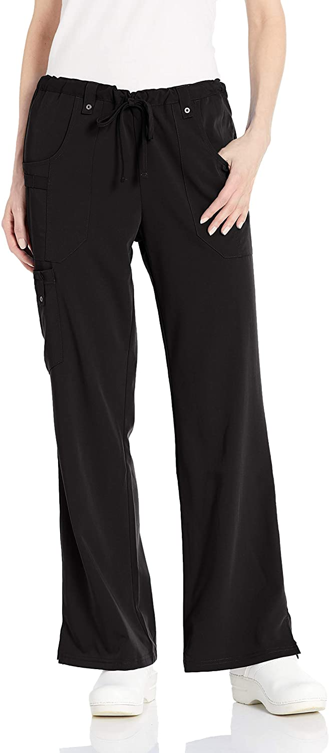 Dickies Women's Xtreme Stretch Flare Leg Drawstrin Srubs Pant