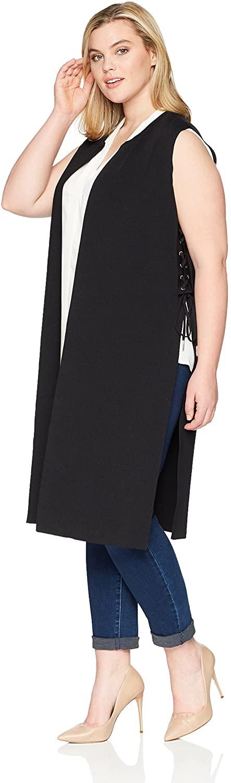 Rebel Wilson X Angels Women's Plus Size Side Lace Up Knit Duster