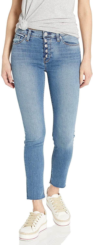 HUDSON Women's Nico Mid Rise Skinny Crop Jean