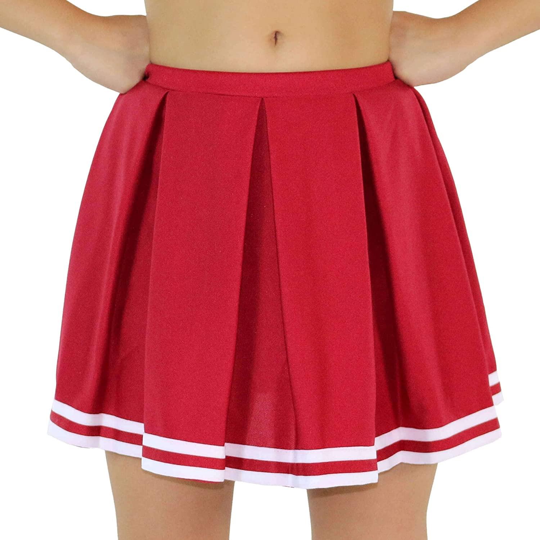 Danzcue Womens Knit Pleat Cheerlearding Uniform Skirt