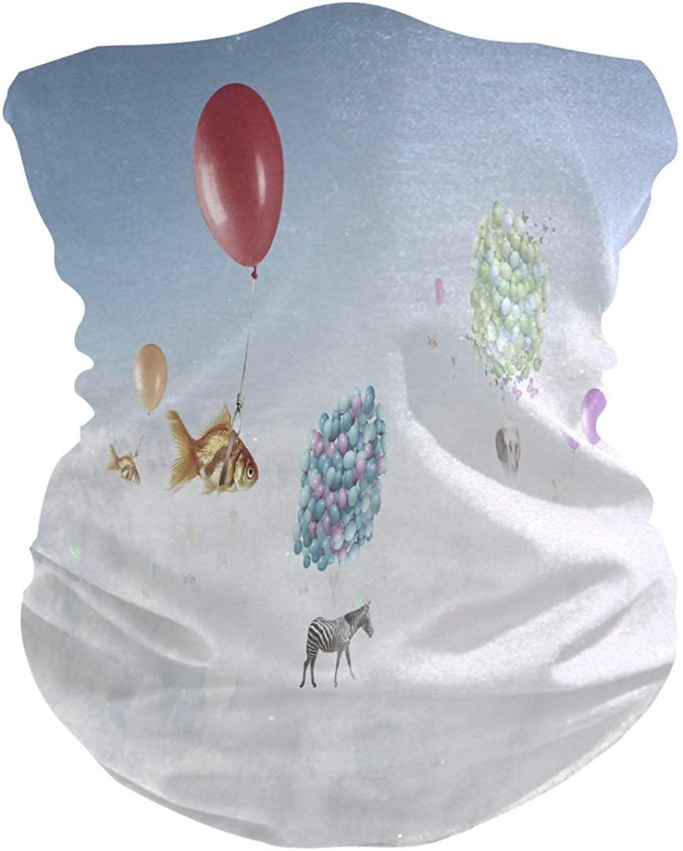 Fly Goldfish Zebra Balloon Face Mask UV Sun Mask Dust Wind Neck Gaiter Magic Bandana