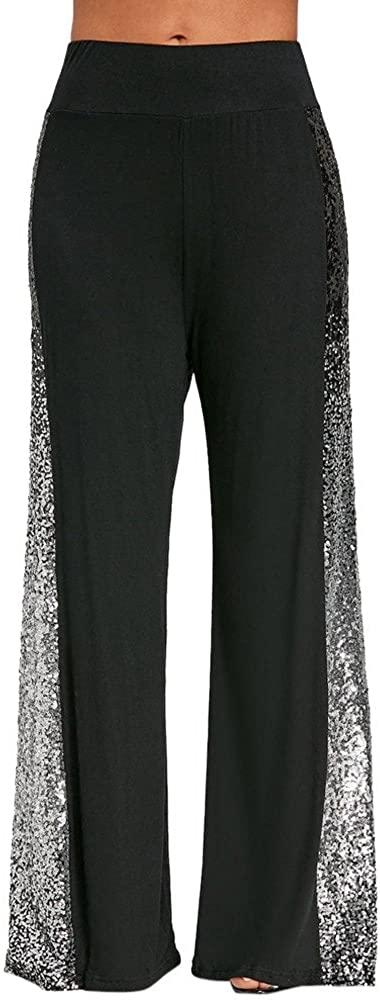 RUIVE Women's Yoga Pants Plus Size Black White Patchwork Stretchy Ladies Sportswear Bell Bottoms Flare Leggings
