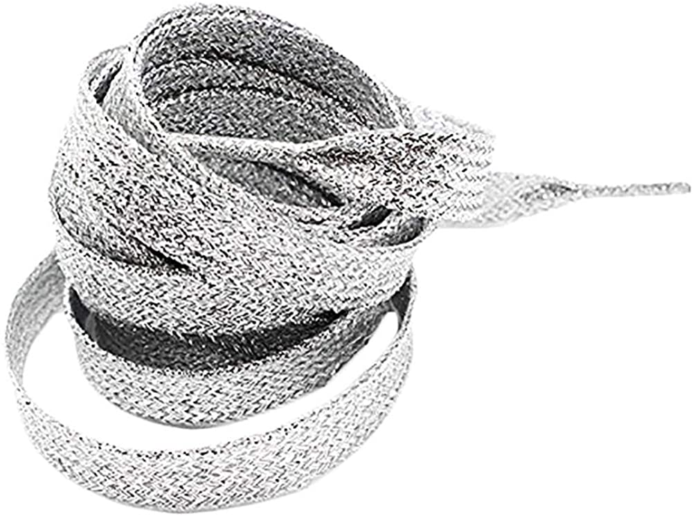 GOOTRADES Metallic Glitter Flat Shoelaces for Canvas Sneaker Athletic 45 inch (2 pairs)