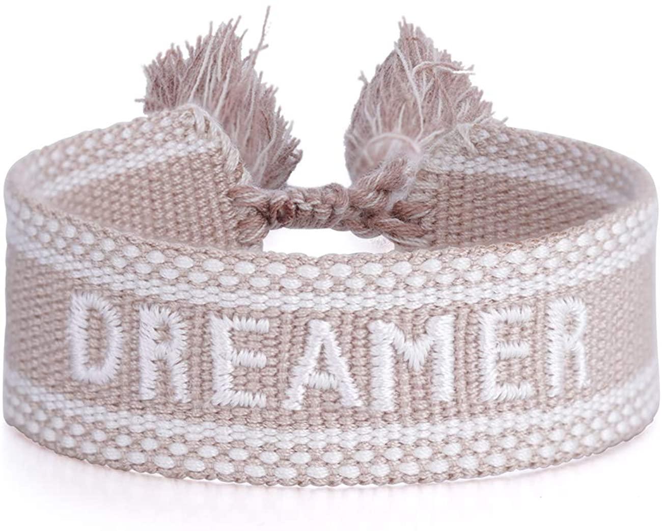 ASTOFLI Woven Friendship Wrap Bracelet Knitted Word Lucky Bracelets Braided Geometric Pattern For Women For Men Unisex Gifts for Birthday Gift for Her