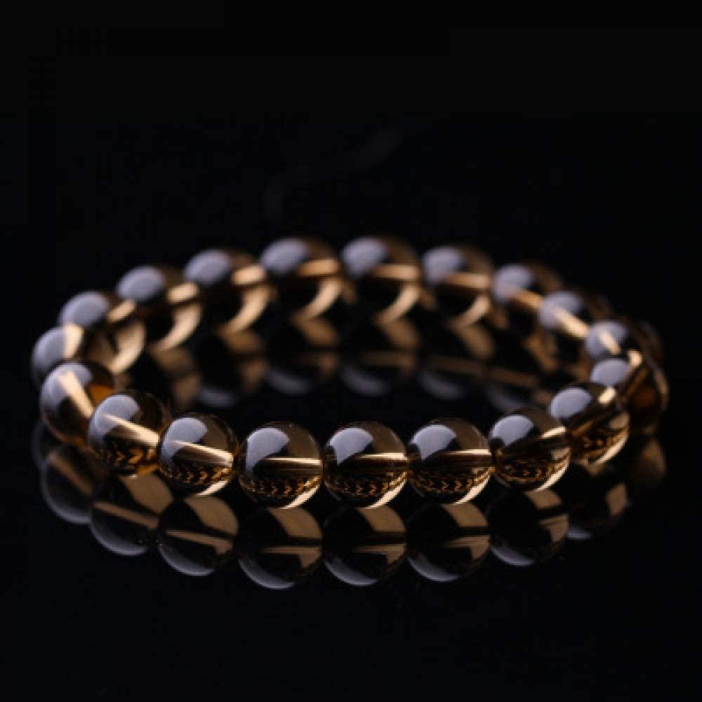 BXZ Stone Bracelet,Light Yellow Bracelet Fashion Natural Stone Bracelets for Women Men Agates Beaded Yoga Bracelets Birthday Wedding Party The Ball Gives Friends The Best Gift