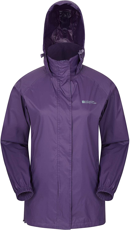 Mountain Warehouse Pakka Womens Rain Proof Waterproof Jacket Purple