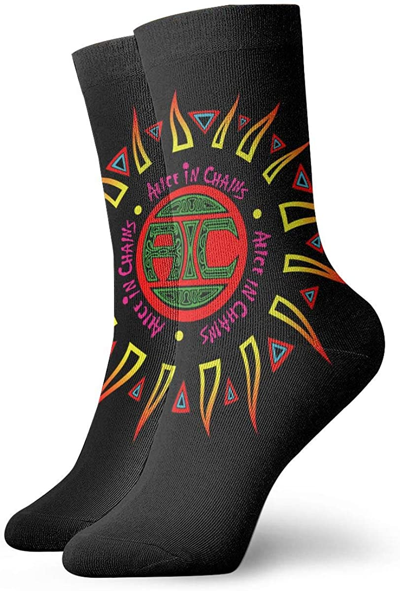 Alice In Chains Stylish Patterned Short Socks, Comfortable, Breathable, Light And Casual Funny Novelty