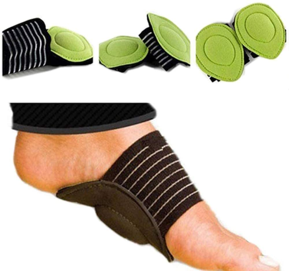 MYDETOE 5 Pairs Foot Heel Pain Relief Plantar Fasciitis Insole Pads Arch Support Shoes Insert