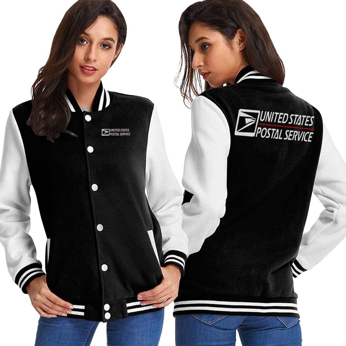 United States Postal Services Womens Sport Baseball Uniform Jacket Coat Adult Coat
