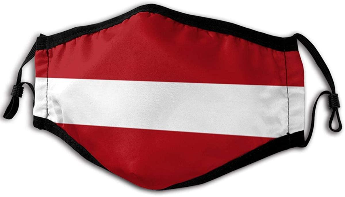 Unisex Reusable Face Mask Latvia Flag Outdoor Dust Mask