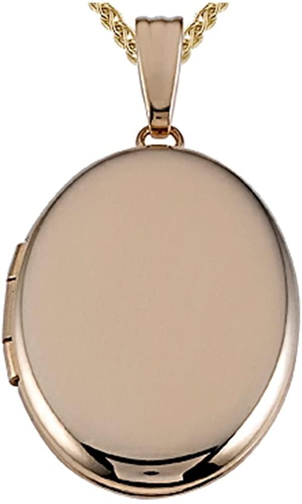 Finejewelers Medium Oval Locket Pendant Necklace 14kt Gold