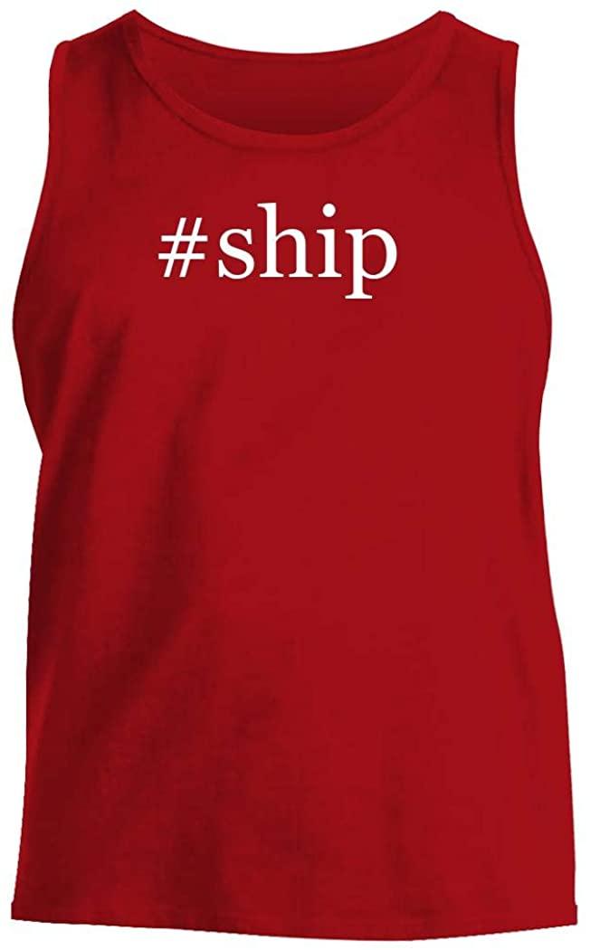 #ship - Men's Hashtag Comfortable Tank Top, Red, Medium