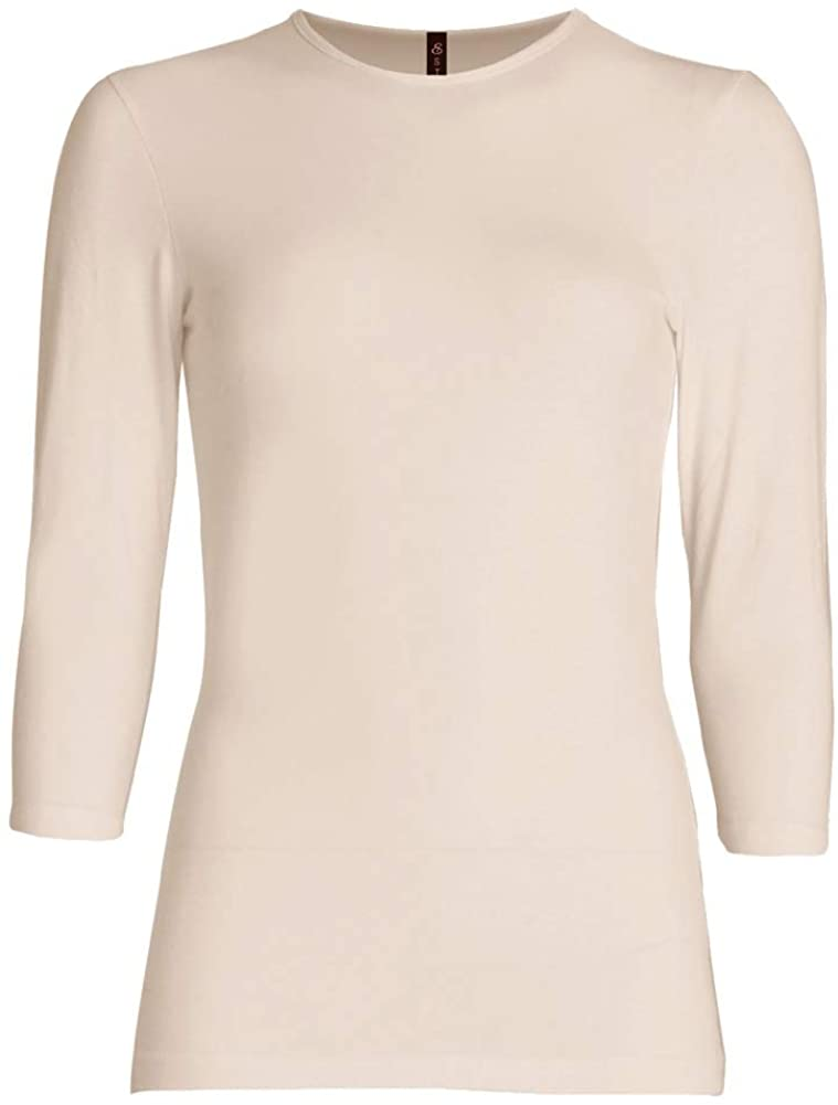 ESTEEZ Womens 3/4 Sleeve Shirt Relaxed FIT EX801136 Beige XX-Large