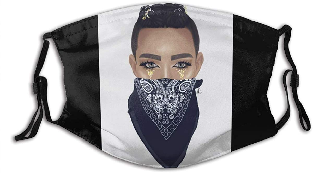 Sisters-James-Charles Dust Mask-Reusable Filtered Cotton Comfortable, Breathable and Washable Black